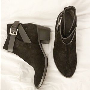 Costume National Suede Ankle Booties